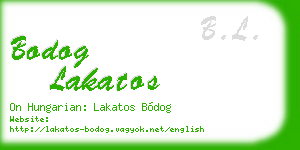 bodog lakatos business card